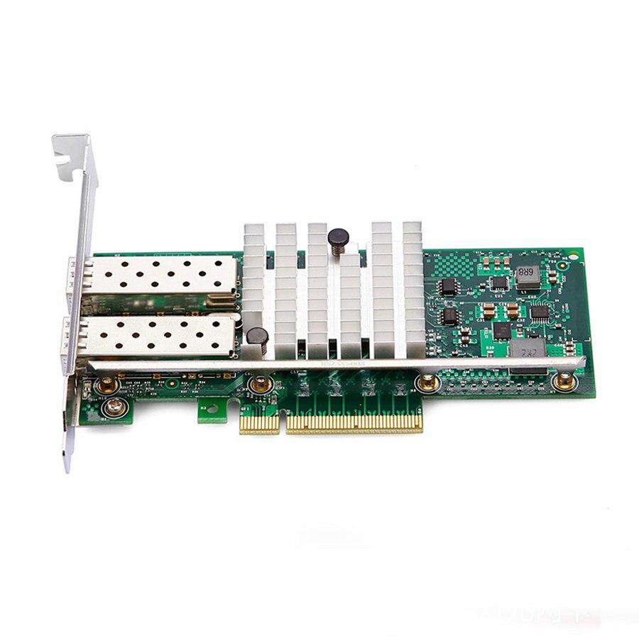 Подробнее о 10gbps pci express gigabit ethernet fiber network card Dual-port  for INTEL X520 82599ES original dual port gigabit fiber network card for intel x520 82599es