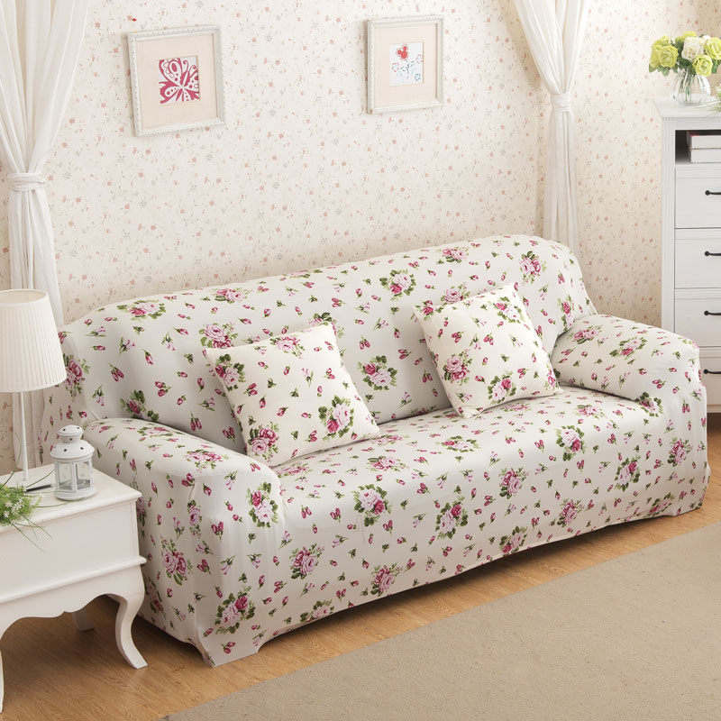 24colors Sofa Slipcover Flower Printed Universal Stretch