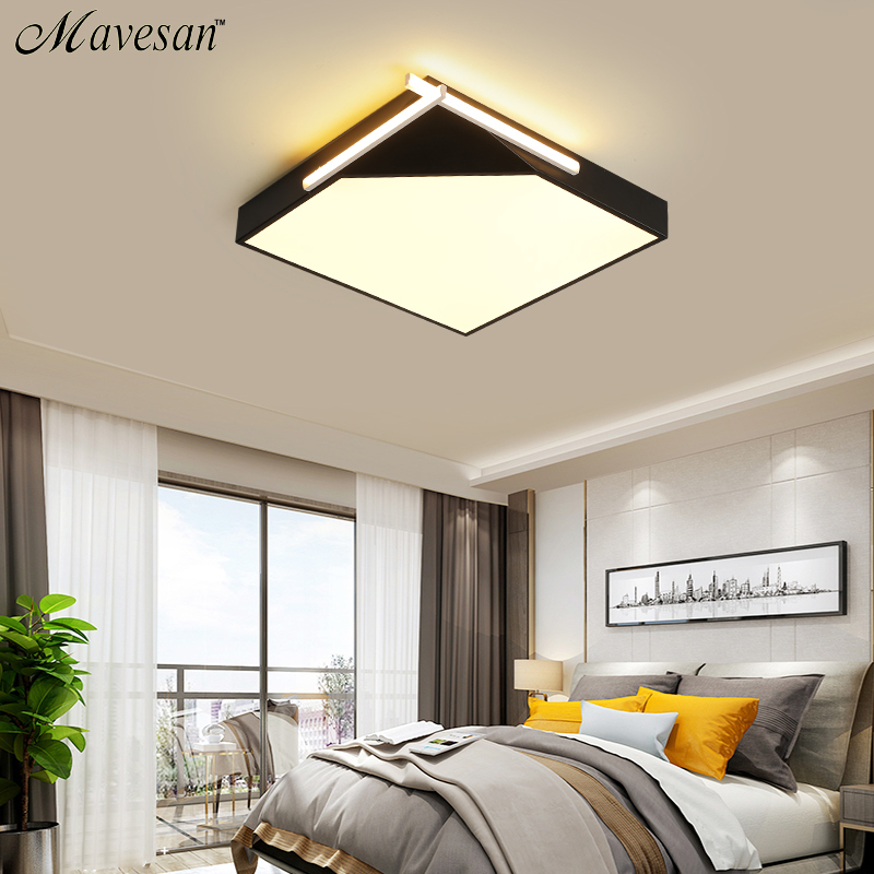 Led Ceiling Light with Remote Control White and Black Square Ceiling Lamps for Living Room Kitchen Bed Kids Room Light Fixtures b32 4x cute kawaii black cat gel pen kawaii writing stationery creative gift school office supply 0 5mm