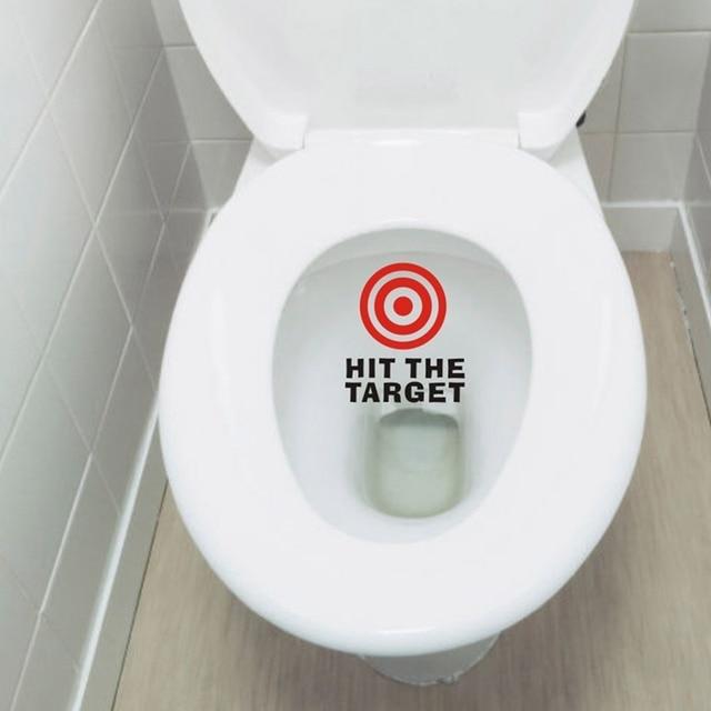 Hit The Target Waterproof Funny Toilet Sticker Bathroom Personality ...