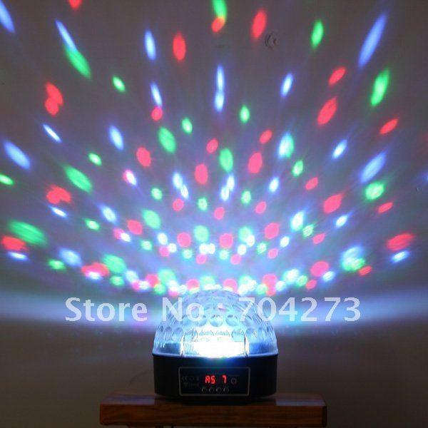 Mini LED Stage Light RGB Crystal Magic Ball Effect light Disco DJ Party Stage Lighting Free Shipping
