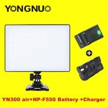 Yongnuo yn-300 yn300 воздуха светодиодные лампы видео панель на камеру 3200 К-5500 К с np-f550 аккумулятор и зарядное устройство для цифровой зеркальный фотоаппарат canon nikon