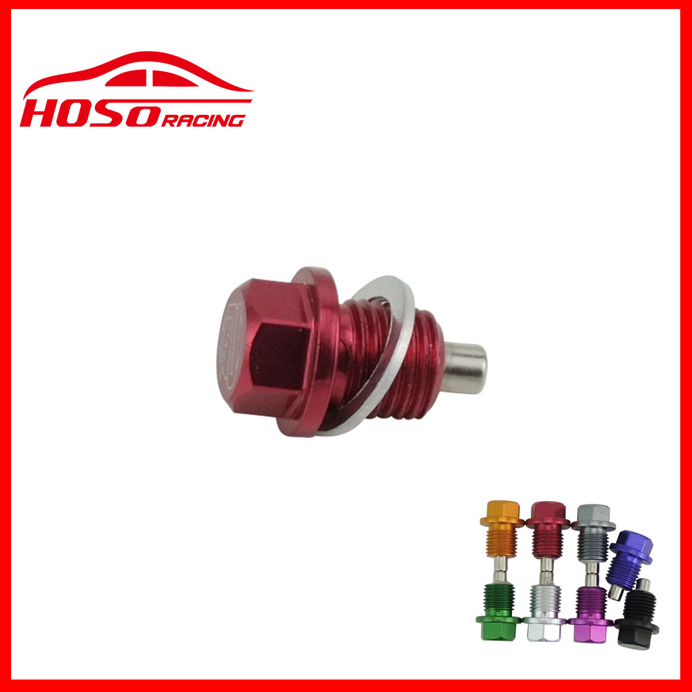 Honda Civic Magnetic Oil Sump Drain Plug M14x1.5 RED Includes washer