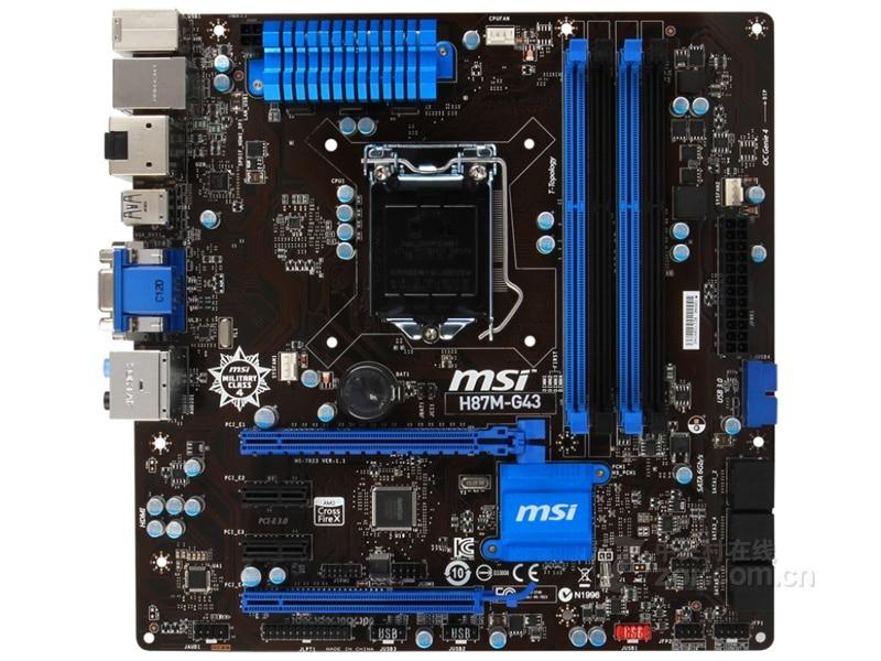 Original Motherboard MSI H87M-G43 H87 LGA 1150 DDR3 I3 I5 I7 DDR3 32G SATA3 USB3.0 Motherboard Free Shipping