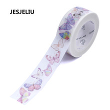 NEW Purple Butterfly Washi Masking Tape Paper Adhesive DIY Card Photo Album Sticker