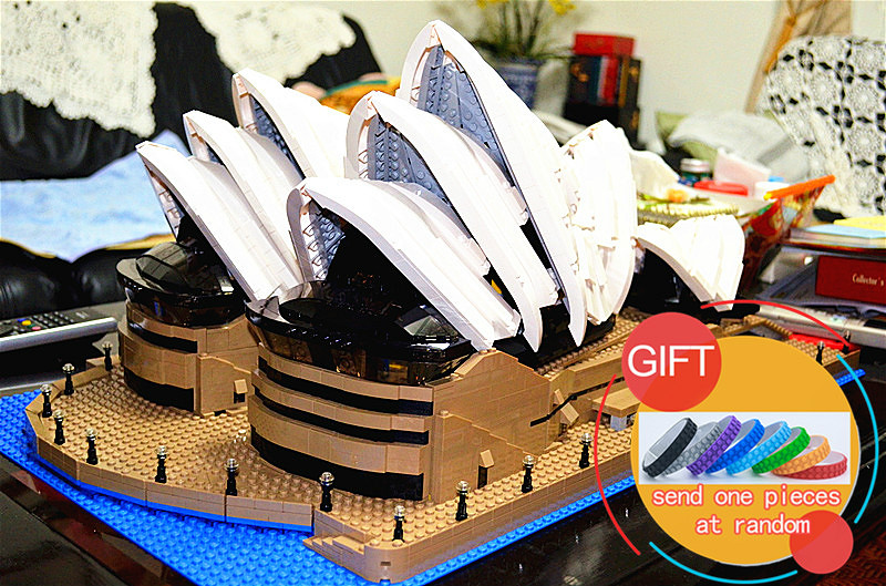 17003 2989Pcs City Series Sydney Opera House set Model Building Kits Blocks Compatible with 10234 toys lepin a toy a dream lepin 24027 city series 3 in 1 building series american style house villa building blocks 4956 brick toys