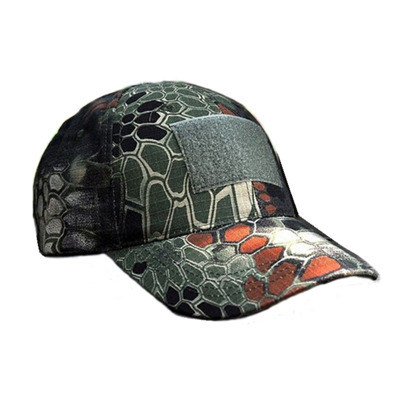 ALLKPOPER Snapback Camouflage Tactical Hat Patch Army Tactical Baseball Cap Unisex ACU CP Desert Cobra Camo Hats For Men