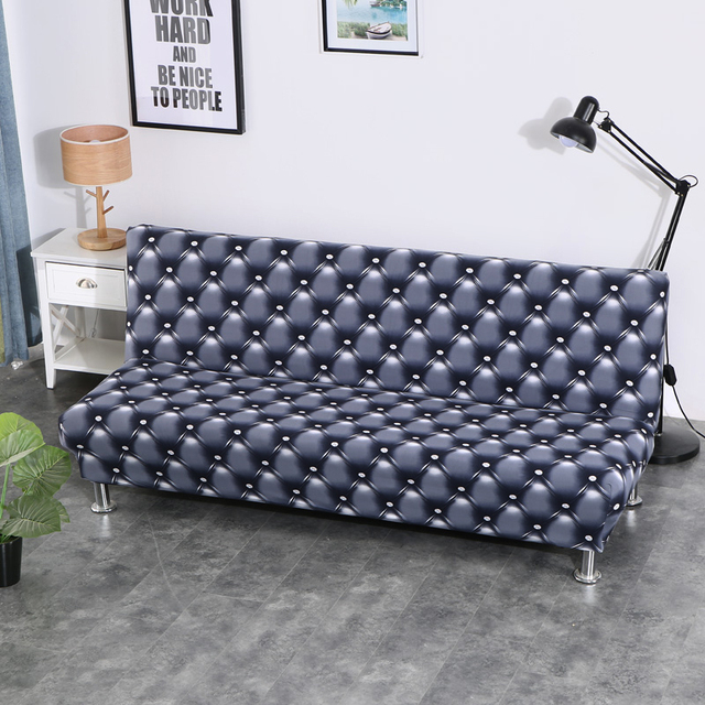 Universal Armless Sofa Bed Cover Folding Seat Slipcover Modern Stretch Covers Cheap Couch Protector Elastic Futon Bench Cover Chair Cover Aliexpress