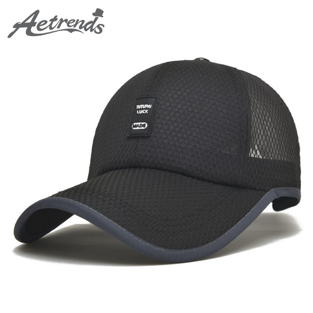 e15ab7041b5  AETRENDS  Summer hat mesh male baseball cap russia black sports caps for men  stranger