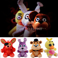 New 2016 Cartoon Toys 6 Types FNAF Five Nights at Freddy's Chica Bonnie Foxy Brown Bear Plush Doll Toy