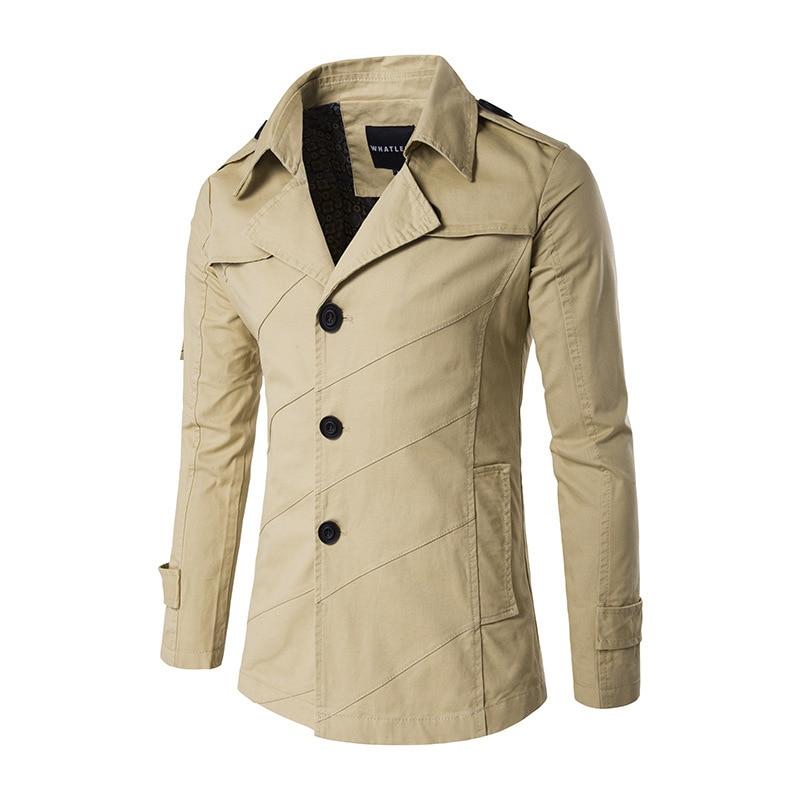 men jacket coat long section thin fashion trench coat. Black Bedroom Furniture Sets. Home Design Ideas