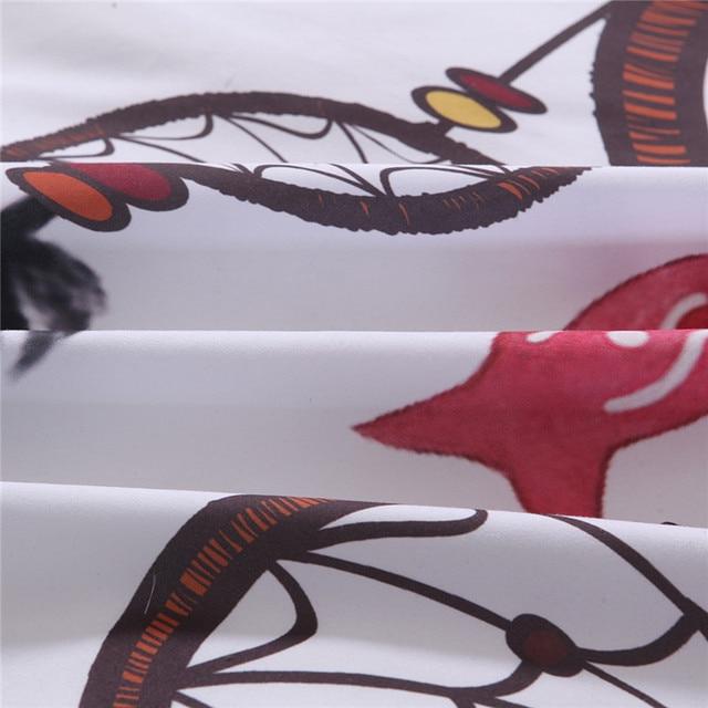 Bonenjoy Bianco Set di Biancheria Da Letto King Size Copertura Della Trapunta Piuma Dream catcher di Stampa Per Le Ragazze Usato Singolo Biancheria Da Letto Copripiumino queen