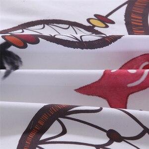 Image 5 - Bonenjoy biały pościel ustawić duży rozmiar kapa na kołdrę nadruk z piór dla dziewczyn używane łóżko pojedyncze pościel kołdra okładka królowej