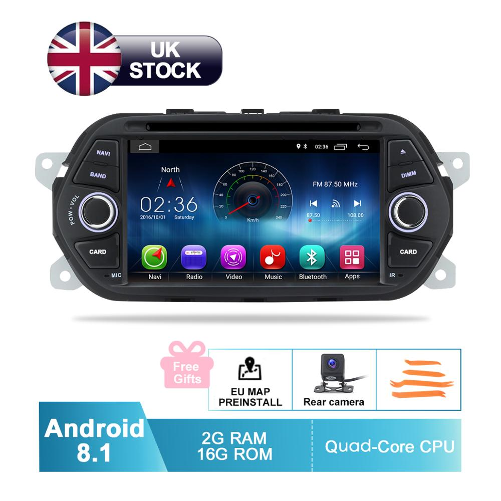 """7 """"HD Android 8.1 voiture GPS stéréo pour Fiat Tipo Egea 2015 2016 2017 Auto DVD Radio FM RDS WiFi Audio vidéo lecteur caméra de sauvegarde"""