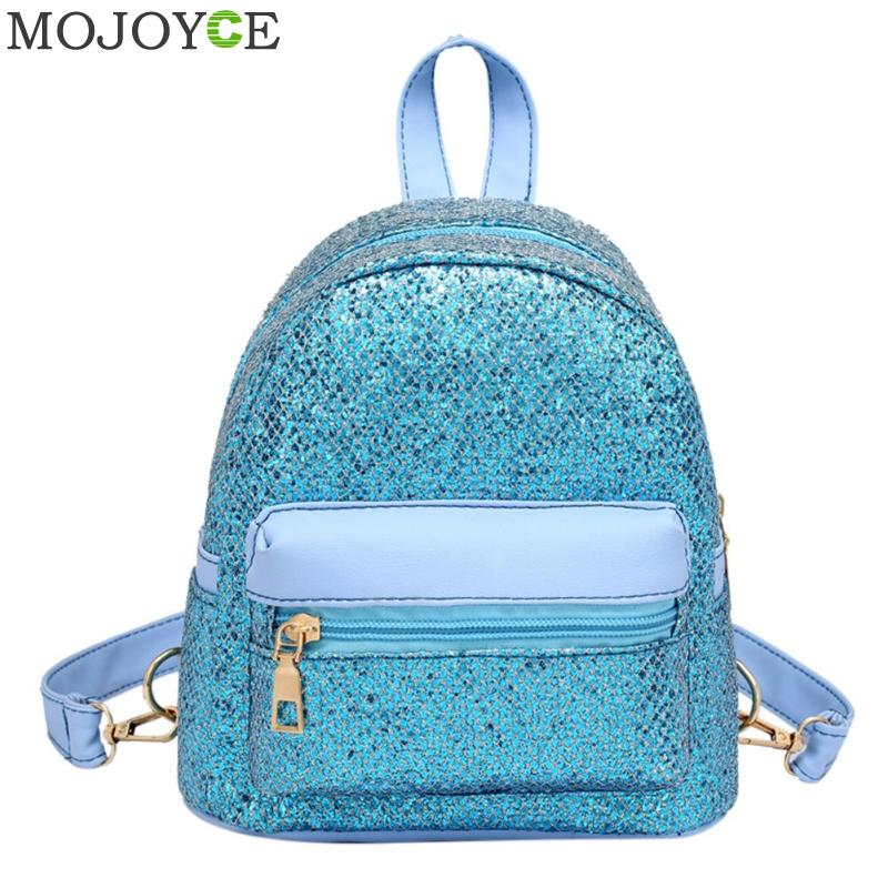 Shining Sequined PU Backpacks For Female Solid Color Fashion Leather Shoulder Bag Pure Party Mini Travel School Casual Backpack Shining Sequined PU Backpacks For Female Solid Color Fashion Leather Shoulder Bag Pure Party Mini Travel School Casual Backpack