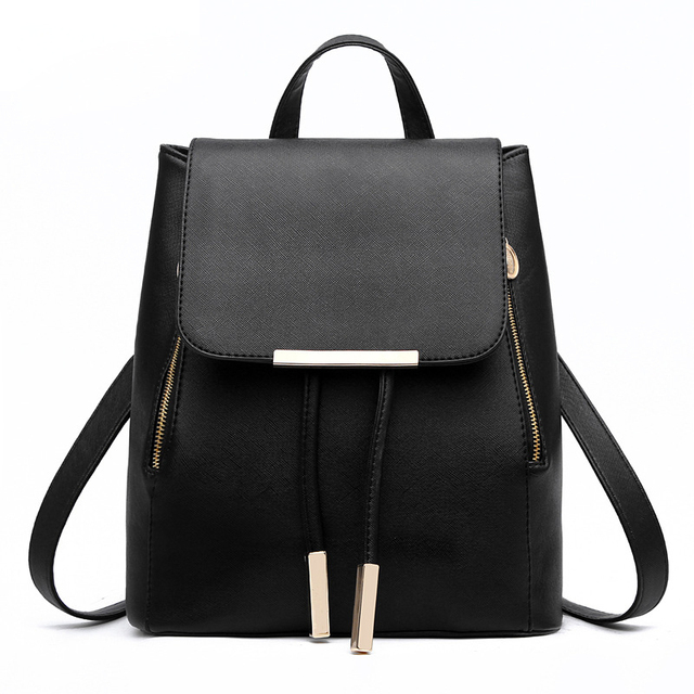 Women Leather Backpack Cute School Bags For Teenage Girls ...