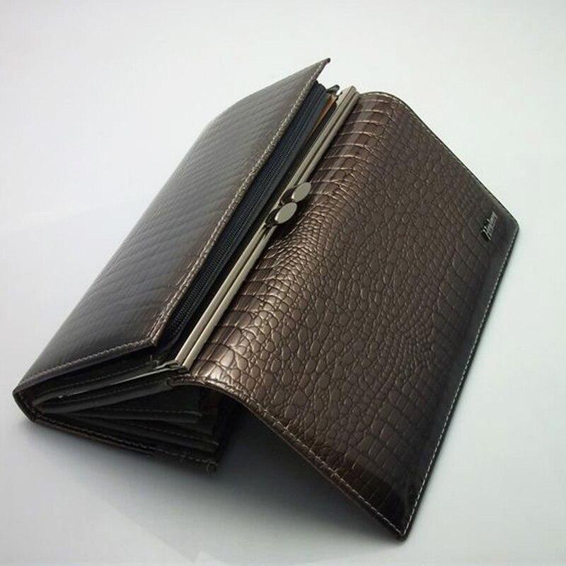 carteiras de couro genuíno europeu Material Principal : Couro Genuíno