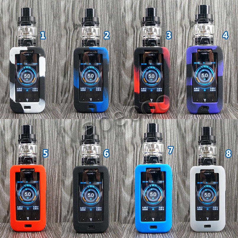 60pcs Silicone Case skin for Vaporesso luxe 220W TC Kit Cover Sleeve Wrap colourful choice Fit