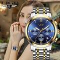 2019 LIGE, новинка, розовое золото, женские часы, Бизнес Кварцевые часы, женские, Топ бренд, роскошные женские наручные часы, женские часы, Relogio ...