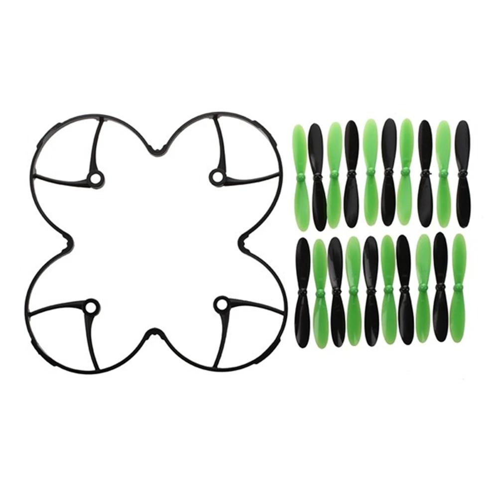 Hubsan X4 H107L H107-A36 Propellers Blades Black Green Set of 4 5 Pack