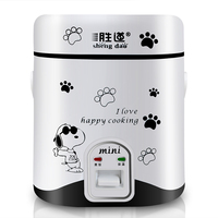 freeshipping 1.2L multifunction AC220 mini rice cooker lunch box suited for 1 2 people stew soup, heat lunch HA113