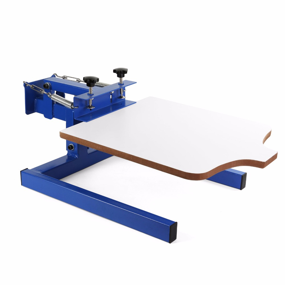 Silk Screen Printing Machine 1 Station Screen Printing Press Double Spring T-shirt Screen Printing Machine 1 Color automatic balloon printing machine balloons silk printing machine balloons serigraphy machine
