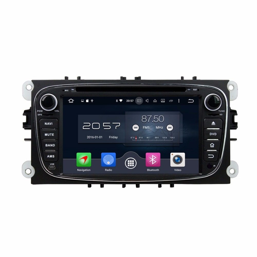 4GB RAM Octa Core 7 Android 6.0 Car Audio DVD Player for Ford Mondeo Tourneo Transit S-max With Radio GPS 4G WIFI Bluetooth USB