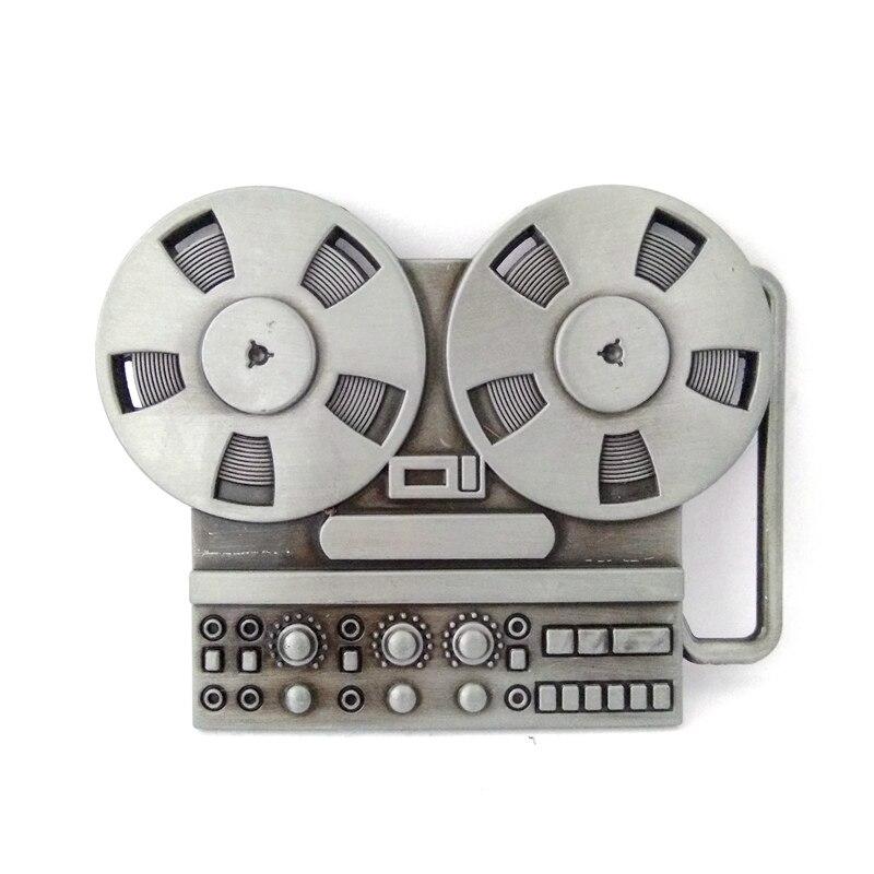 Музыкальная серия Vinatge reel to reel recorder, металлическая пряжка для ремня, Мужская большая пряжка для ремней, аксессуары, розничная, на заказ, зажим для ремня - Цвет: only buckle