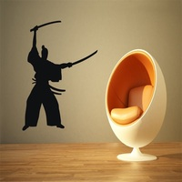 Wall Stickers Vinyl Decal Japan Samurai Warrior Fighter Ronin