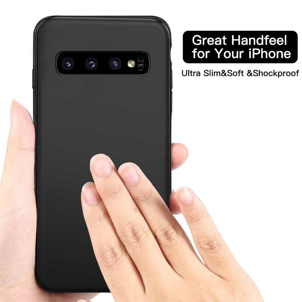Magnetic Car Phone Case for Samsung Galaxy S10 Plus S10e Huawei P30 Mate20 Pro Built-in Magnet Plate Soft TPU Shockproof Cover
