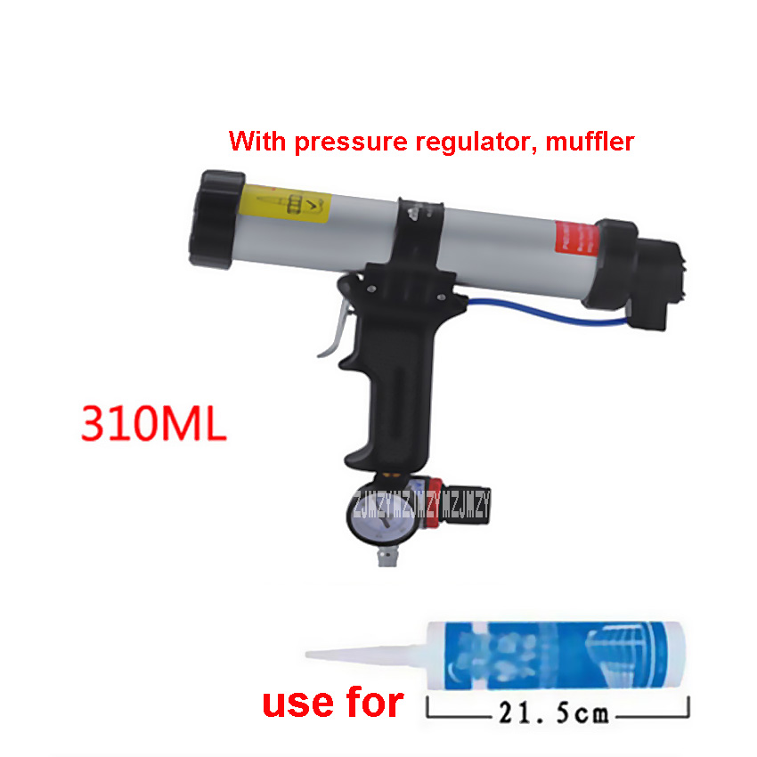 Фотография New 310ML Cartridge Type Pneumatic Glue Gun Silicone Gun Suitable For Plastic Drum 215MM-225M, With Pressure Regulator, Muffler