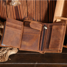 Wallet Holder Short Purse Money-Bags Pocket Cash-Coin Credit-Card Small Genuine-Leather