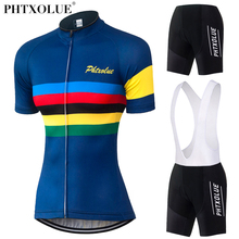 Phtxolue Women Team Cycling Clothing 2017 Maillot Ciclismo Breathable Bike Bicycle Wear Ropa Jersey Set