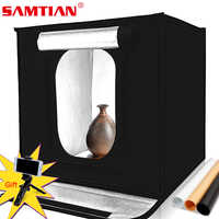SAMTIAN F40 LED Light Box Portable Photo Studio 40cm Lightbox Photography Soft Box Photo Tent Room for jewelry Toy Shooting
