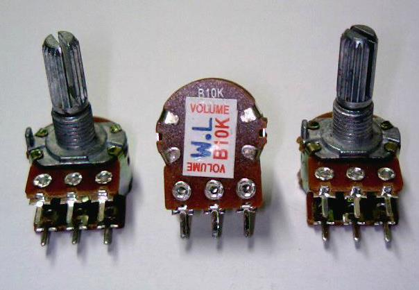 Free Shipping 10pc Double Potentiometer Wh148-1b 1k 5k 10k 20k 50k 100k 500k 1m Passive Components