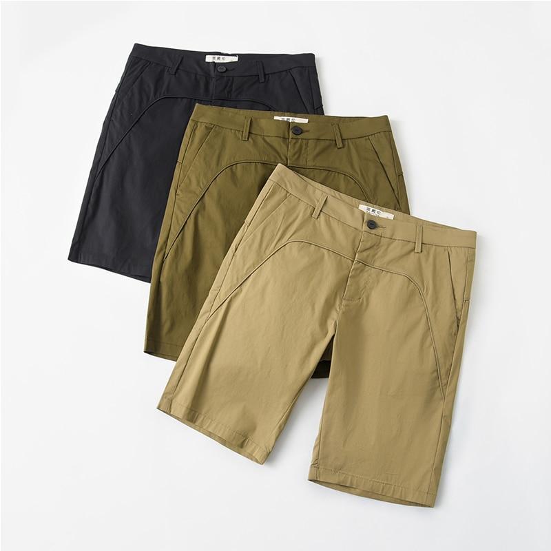 Enjeolon Brand Mens Shorts Summer Short Pants Men Cotton Shorts Clothing Khaki Mens Pants Shorts For Men k6849