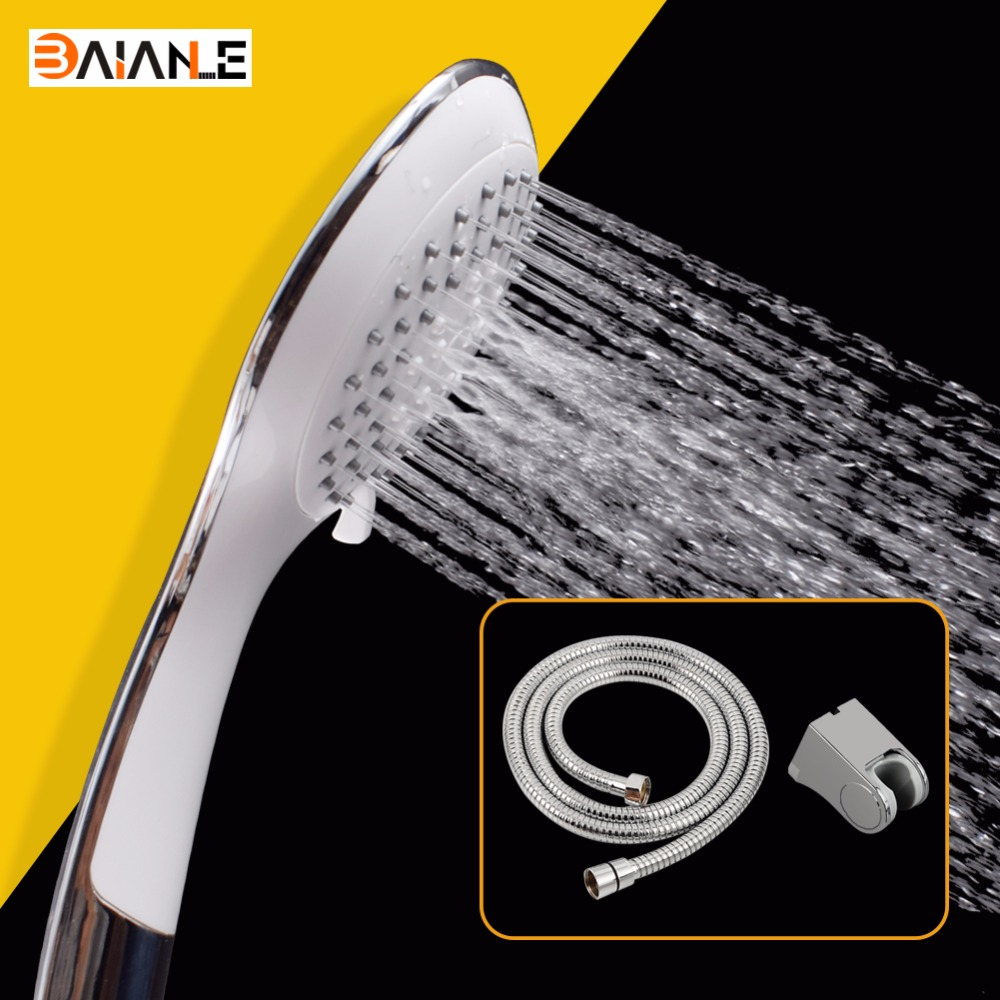Shower Heads Five function Bathroom Water Saving Rainfall Adjustable chrome Shower head Faucet Replacement Parts