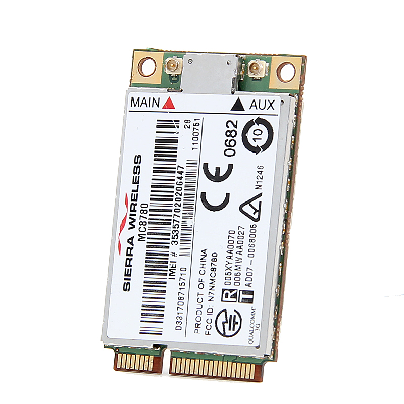 New Unlocked Sierra MC8780 Wireless 3G WWAN 7.2Mbps HSUPA HSDPA UMTS GPRS GPS EDGE Module Mini PCI-E Card For Dell Acer Asus china s oem firehawk custom shop electric guitar lp color shell inlays color binding double water ripple