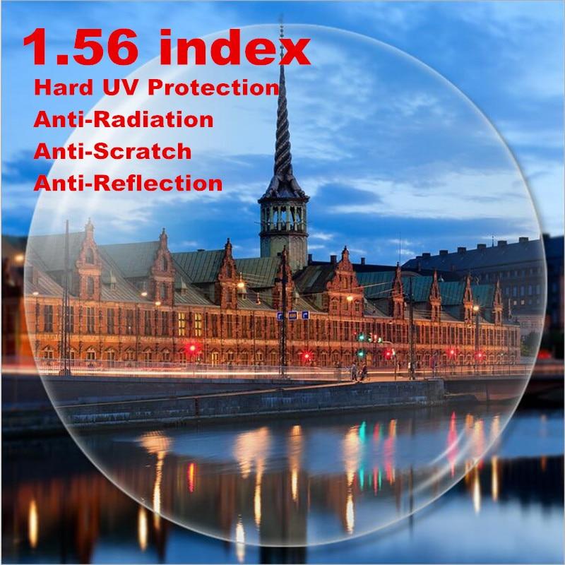 d5a71cffb1 1.56 Single Vision Aspheric Prescription Lens CR-39 Myopia Presbyopia Lens  Hard UV Protection Glasses Lens Anti-Radiation 2 PCS