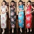 Fashion Chinese Women's Clothing Satin Cheong-sam Long Qipao Dress Suit size S M L XL XXL J5110