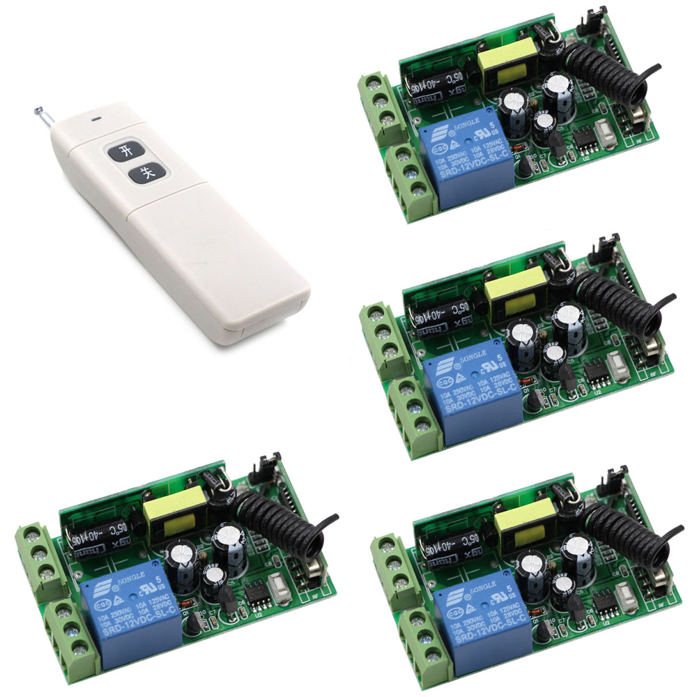 AC 85V 110V 125V 220V 240V 250V Wireless Remote Control Switch 1 CH 1CH Relay Switch Receiver 3000m Long Range Transmitter ac 220v wireless remote control switch remote on off 1ch 10a relay radio light switch receiver 3000m long range transmitter