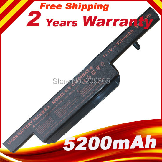 Laptop Battery For Clevo BAT-B5105M C4100 C4500 C4500BAT-6 C4500Q 5200Mah 6 Cell