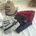 Мода 2016 Осенью И Зимой Женские Шляпы Горячий Продавать Патч вышитые буквы шляпу Вязание Бейсболка