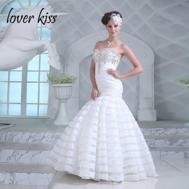 Người yêu Nụ Hôn Vestidos de Noiva Truyền Thống Lấy Cảm Hứng Từ Thiết Kế Mermaid Wedding Dress Đính Cườm Đá Cô Dâu Gown 2018 robe mariage sirene