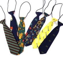 New Hot Sale Kids Boy's Necktie Cotton Striped Floral Neck Tie for Children Suits 6cm Print Ties Slim Girls Tie Gravatas
