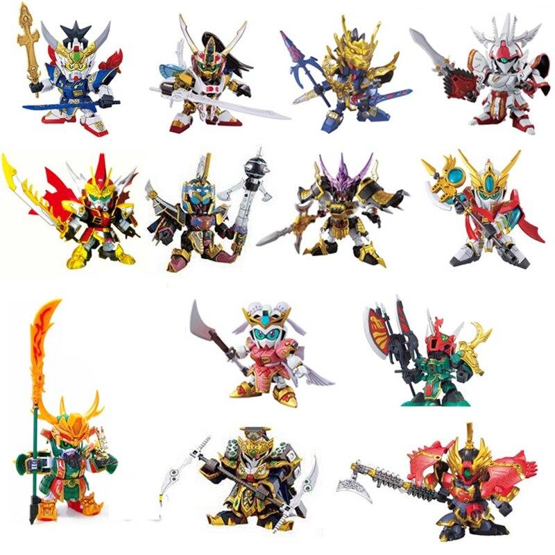 27 Styles Biography of Three Kingdoms SD/BB Gundam Action Toy Figures Assemble Gundam Robot toys for Children Robot hobby Model free shipping brand dragon momoko tallgeese t2 anime gundam mg model 1 100 assemble prototype robot toys art