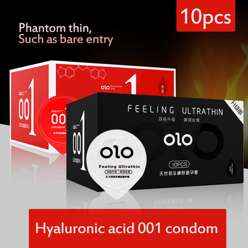 Condom Ultra-thin 0.01 Hyaluronic Acid Safety Male Sex Special-purpose Long-lasting Student Liquid Trumpet Female Free Shipping