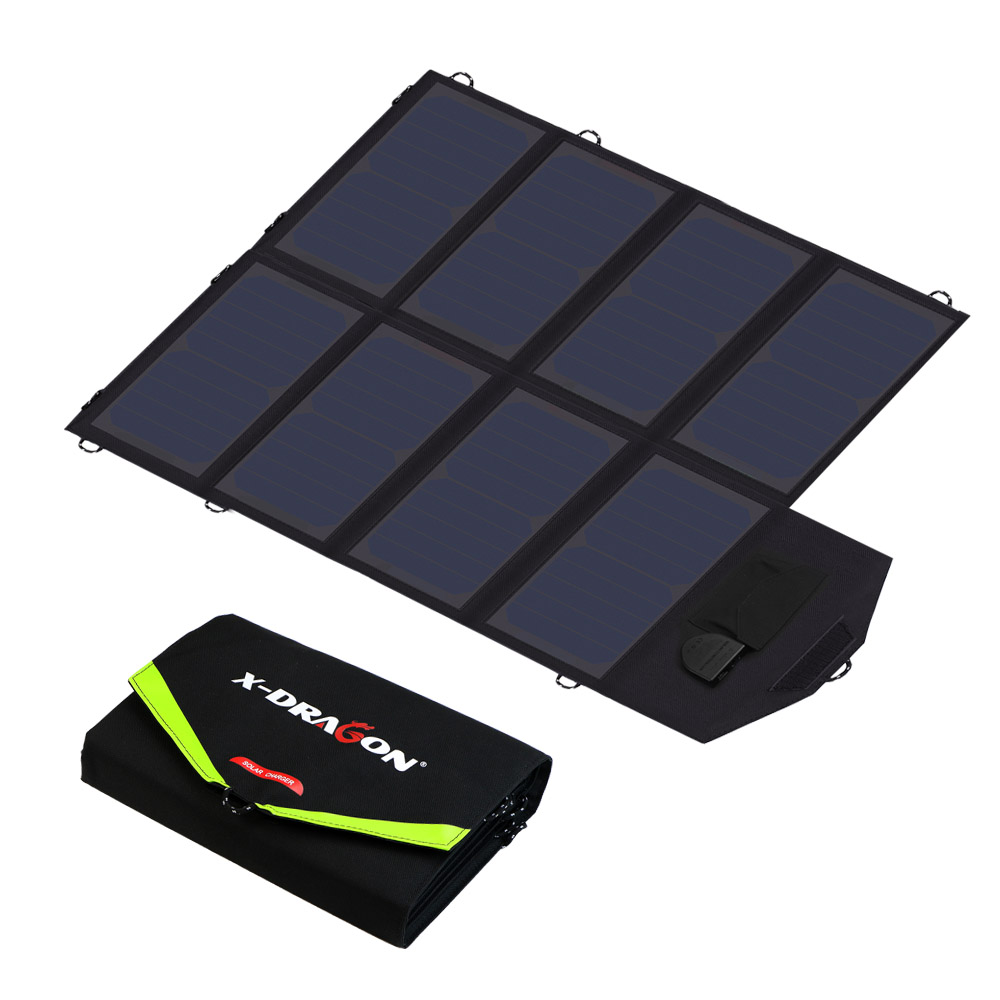 ALLPOWERS Portable Foldable Solar Panel Charger 40W18V 5V Dual Ports Solar Charger for Phone Tablet Laptops