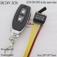 DC24V 2CH Micro Remote Switch NO COM NC Contact Wireless Switch 2CH ON OFF At The