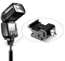 Kaliou 1 pcs Camera Metalen Koude Schoen Hot Shoe Flash Bracket Mount Adapter Met 1/4 Statief Schroef Light Stand statief